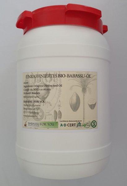 Bio-Babassuöl unraffiniert, 18 Liter MHD 31.1.23